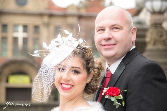 Wedding portrait- bride + groom-Leeds